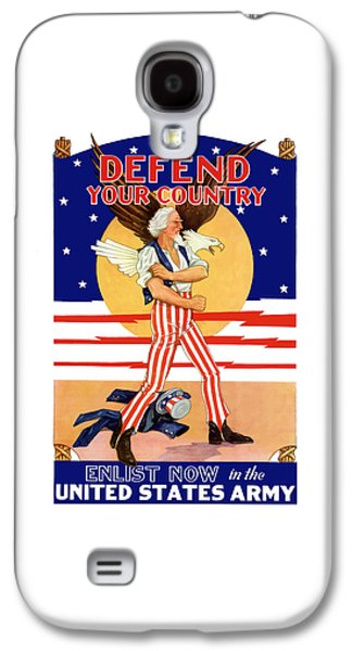 Patriotic Mixed Media Galaxy S4 Cases - Defend Your Country Enlist Now  Galaxy S4 Case by War Is Hell Store