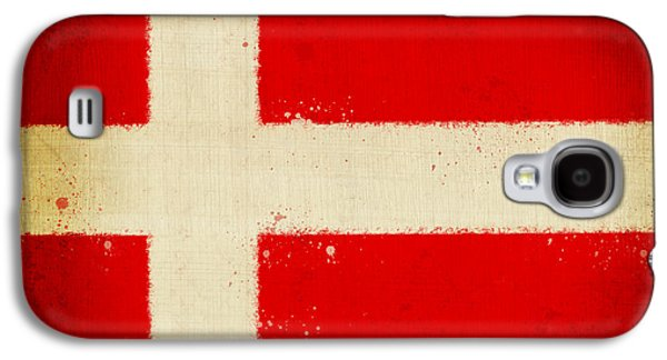 Dirty Digital Art Galaxy S4 Cases - Denmark flag Galaxy S4 Case by Setsiri Silapasuwanchai