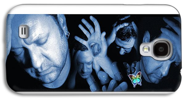 Contemplative Photographs Galaxy S4 Cases - Depressed Man Galaxy S4 Case by Victor Habbick Visions