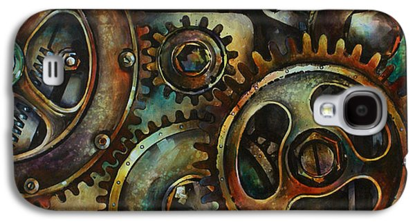Gear Paintings Galaxy S4 Cases - Design 2 Galaxy S4 Case by Michael Lang