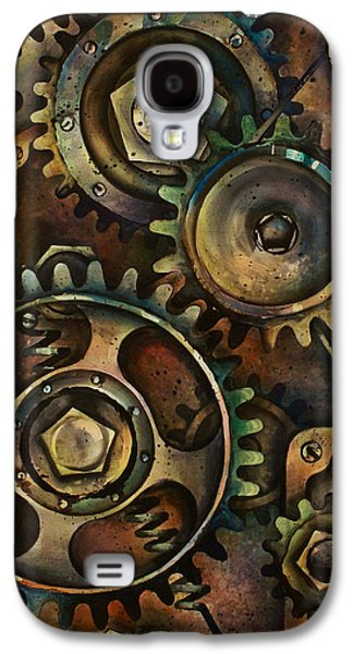 Gear Paintings Galaxy S4 Cases - Design 3 Galaxy S4 Case by Michael Lang