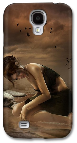 Sadness Galaxy S4 Cases - Desolation Galaxy S4 Case by Karen H