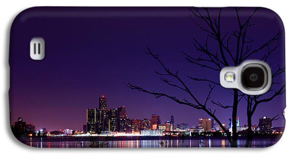 Big 3 Galaxy S4 Cases - Detroit Skyline Galaxy S4 Case by Cale Best