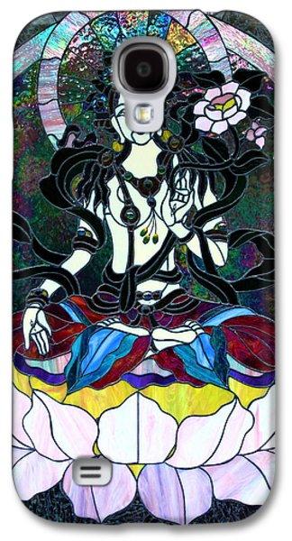 Hindu Goddess Photographs Galaxy S4 Cases - Devi Shakti Goddess Galaxy S4 Case by Karon Melillo DeVega
