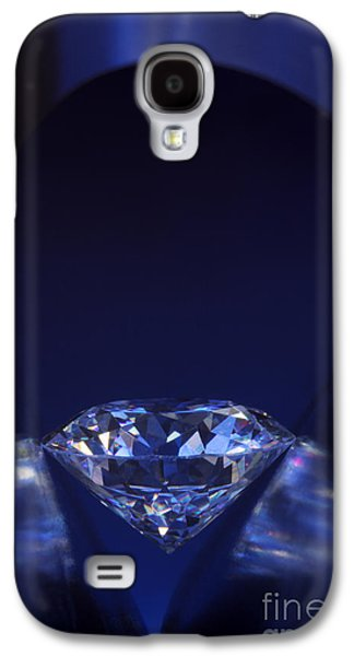 Stones Jewelry Galaxy S4 Cases - Diamond in deep-blue light Galaxy S4 Case by Atiketta Sangasaeng
