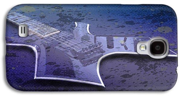 Modern Abstract Digital Art Digital Art Digital Art Galaxy S4 Cases - Digital-Art E-Guitar I Galaxy S4 Case by Melanie Viola