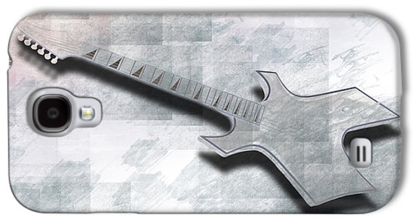 Modern Abstract Digital Art Digital Art Digital Art Galaxy S4 Cases - Digital-Art E-Guitar III Galaxy S4 Case by Melanie Viola