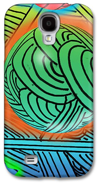 Abstract Digital Digital Galaxy S4 Cases - Digital Doodles Galaxy S4 Case by Anthony Caruso