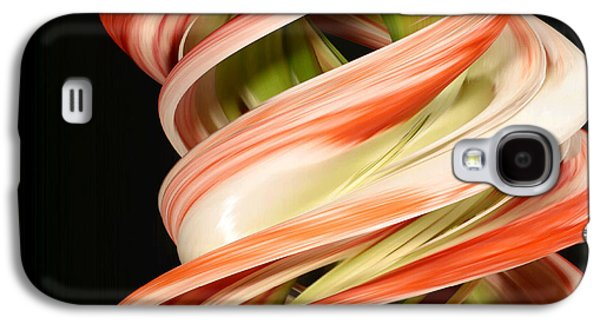 Designs In Nature Galaxy S4 Cases - Digital Streak Image Of Amaryllis Galaxy S4 Case by Ted Kinsman
