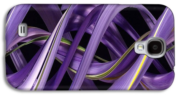 Designs In Nature Galaxy S4 Cases - Digital Streak Image Of An Iris Galaxy S4 Case by Ted Kinsman