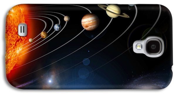 Outer Space Galaxy S4 Cases - Digitally Generated Image Of Our Solar Galaxy S4 Case by Stocktrek Images