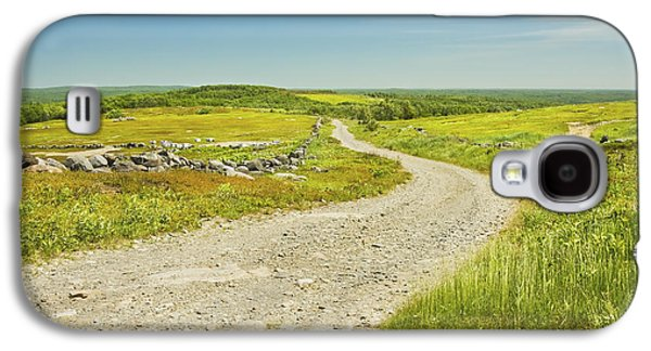 Maine Roads Galaxy S4 Cases - Dirt Road Going Through Large Blueberry Field Maine Galaxy S4 Case by Keith Webber Jr