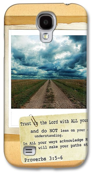 Bible Photographs Galaxy S4 Cases - Dirt Road with Scripture Verse Galaxy S4 Case by Jill Battaglia