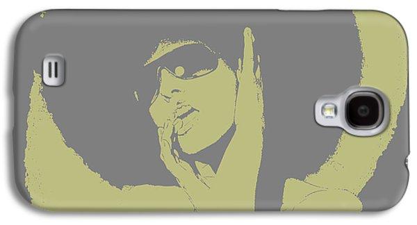 Grey Digital Art Galaxy S4 Cases - Disco Green Galaxy S4 Case by Naxart Studio