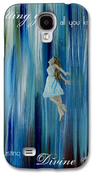 Charlotte Mixed Media Galaxy S4 Cases - Divine Flow Galaxy S4 Case by The Art With A Heart By Charlotte Phillips