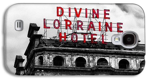 Phillies Digital Art Galaxy S4 Cases - Divine Lorraine Hotel Marquee Galaxy S4 Case by Bill Cannon
