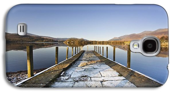 Person Galaxy S4 Cases - Dock In A Lake, Cumbria, England Galaxy S4 Case by John Short