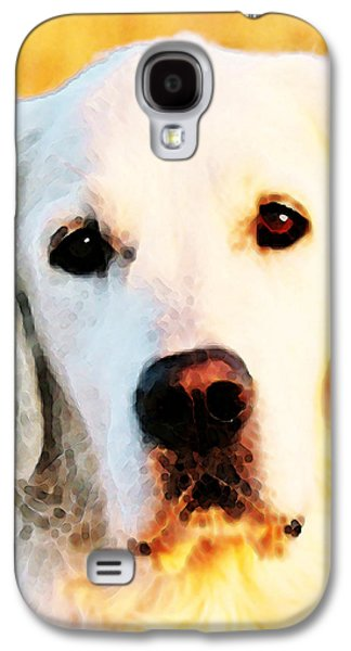 Animal Lover Digital Art Galaxy S4 Cases - Dog Art - Golden Moments Galaxy S4 Case by Sharon Cummings