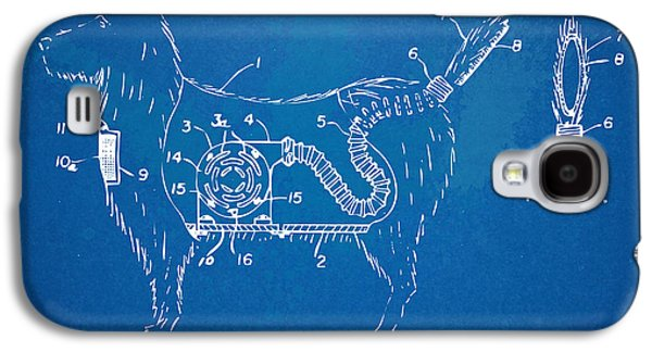Dogs Digital Galaxy S4 Cases - Doggie Vacuum Patent Artwork Galaxy S4 Case by Nikki Marie Smith