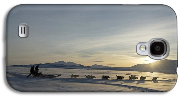 Sledding Galaxy S4 Cases - Dogsledge, Northern Greenland Galaxy S4 Case by Louise Murray