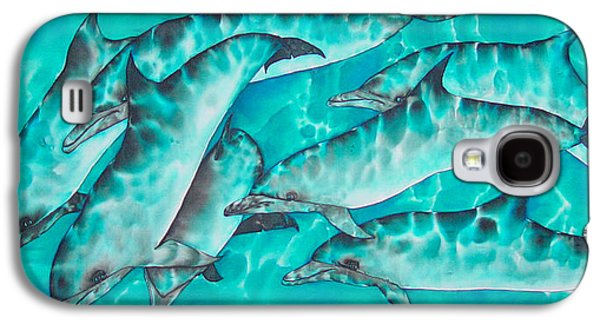 Dolphin Tapestries - Textiles Galaxy S4 Cases - Dolphin Pod Galaxy S4 Case by Daniel Jean-Baptiste