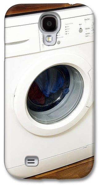 Washing Machine Galaxy S4 Cases - Domestic Washing Machine Galaxy S4 Case by Johnny Greig