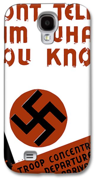 Caricatures Galaxy S4 Cases - Dont tell him what you know Galaxy S4 Case by War Is Hell Store