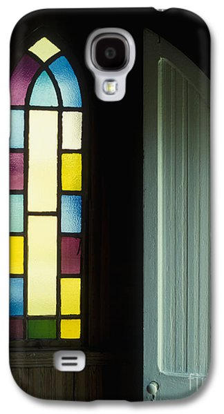 Religious Galaxy S4 Cases - Door and Stained Glass Window Galaxy S4 Case by Will and Deni McIntyre