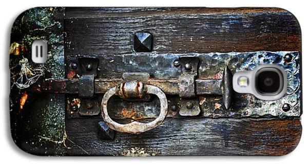 Wooden Door Galaxy S4 Cases - Door Latch Galaxy S4 Case by Joana Kruse