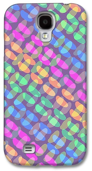 Louisa Galaxy S4 Cases - Dotted Check Galaxy S4 Case by Louisa Knight
