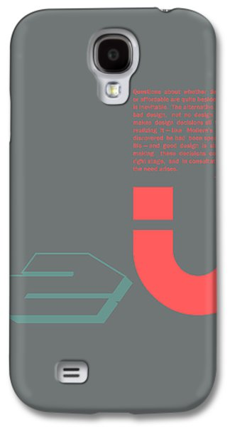Douglas Martin Poster Galaxy S4 Case by Naxart Studio