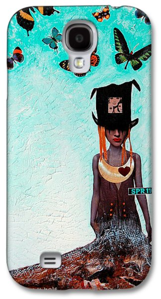 Alice In Wonderland Galaxy S4 Cases - Down The Rabbit Hole Galaxy S4 Case by Sharon Cummings