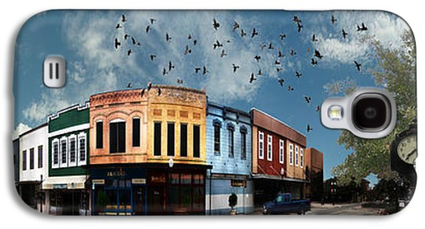 Business Galaxy S4 Cases - Downtown Bryan Texas 360 Panorama Galaxy S4 Case by Nikki Marie Smith