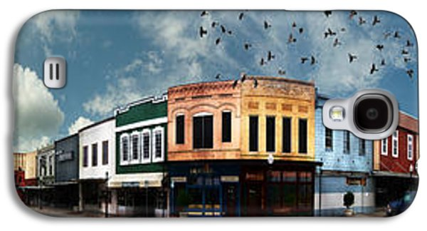 Business Galaxy S4 Cases - Downtown Bryan Texas Panorama 5 to 1 Galaxy S4 Case by Nikki Marie Smith