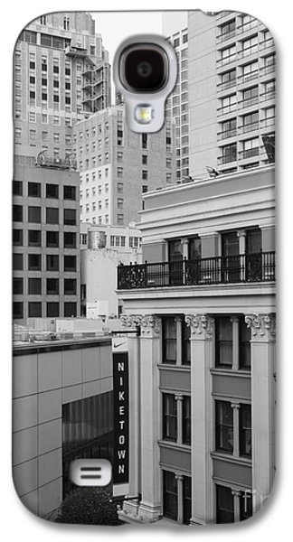 Niketown Galaxy S4 Cases - Downtown San Francisco Buildings - 5D19323 - Black and White Galaxy S4 Case by Wingsdomain Art and Photography