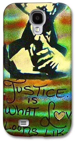 Moral Paintings Galaxy S4 Cases - Dr. Cornel West JUSTICE Galaxy S4 Case by Tony B Conscious