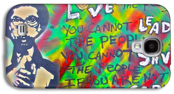 Free Speech Galaxy S4 Cases - Dr. Cornel West  LOVE THE PEOPLE Galaxy S4 Case by Tony B Conscious