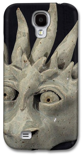Fantasy Ceramics Galaxy S4 Cases - Dragon Mask Galaxy S4 Case by Angela Conley