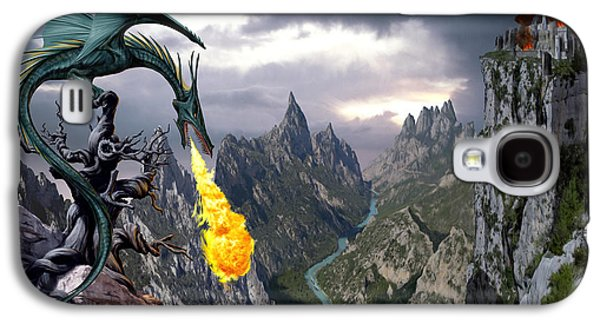 Fantasy Galaxy S4 Cases - Dragon Valley Galaxy S4 Case by The Dragon Chronicles - Garry Wa