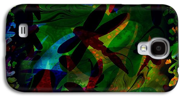 Abstract Nature Galaxy S4 Cases - Dragonfly Galaxy S4 Case by Rachel Christine Nowicki
