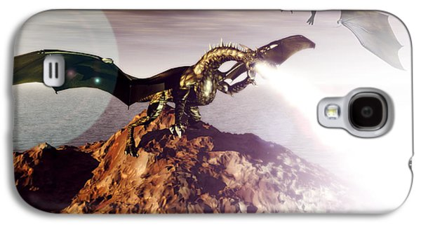 Fantasy Photographs Galaxy S4 Cases - Dragons Galaxy S4 Case by Christian Darkin