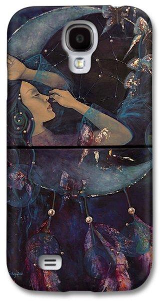 Live Art Galaxy S4 Cases - Dream Catcher Galaxy S4 Case by Dorina  Costras