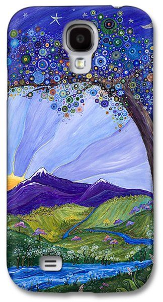 Snow Capped Galaxy S4 Cases - Dreaming Tree Galaxy S4 Case by Tanielle Childers