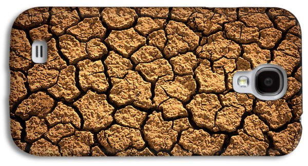 Drain Galaxy S4 Cases - Dried Terrain Galaxy S4 Case by Carlos Caetano