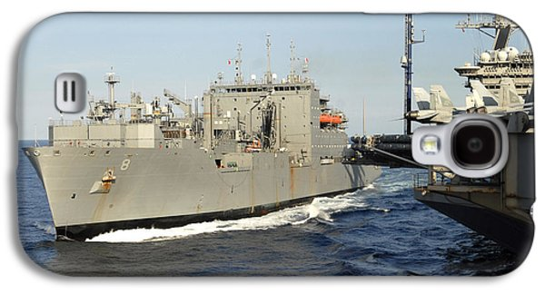 Transportation Photographs Galaxy S4 Cases - Dry Cargo And Ammunition Ship Usns Galaxy S4 Case by Stocktrek Images