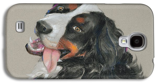 Dogs Pastels Galaxy S4 Cases - Duncan Galaxy S4 Case by Mary Machare