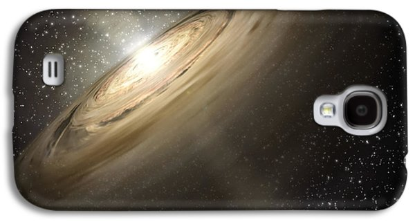Dusty Disks Circling A Star Galaxy S4 Case by Stocktrek Images