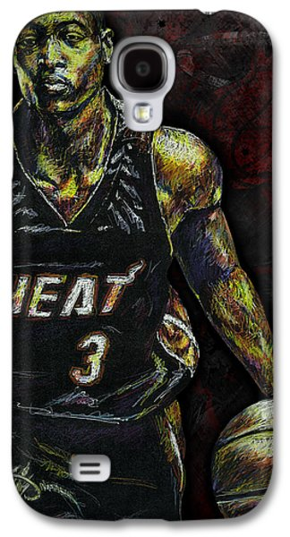 Arango Galaxy S4 Cases - Dwyane Wade Galaxy S4 Case by Maria Arango