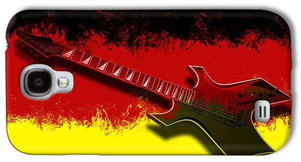 Modern Abstract Digital Art Digital Art Digital Art Galaxy S4 Cases - E-Guitar - German Rock II Galaxy S4 Case by Melanie Viola