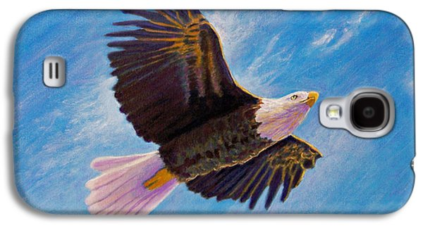 Eagle Paintings Galaxy S4 Cases - Eagle Heart Galaxy S4 Case by Brian  Commerford